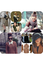 fall floppy hat hat - trench coat coat - big scarfs scarf - sunglasses