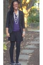 purple Charlotte Russe shirt - black Charlotte Russe blazer