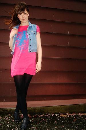vintage dress - jordache vest