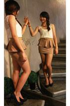 Pink Manila skirt - Parisian heels
