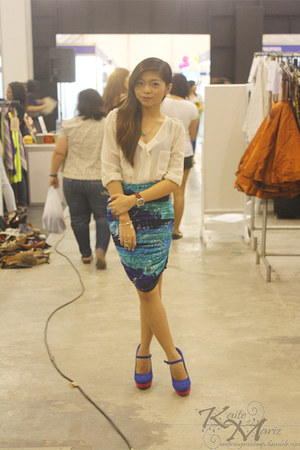 Coexist skirt - Prada bag - Pink Manila top - Gucci watch - janilyn heels