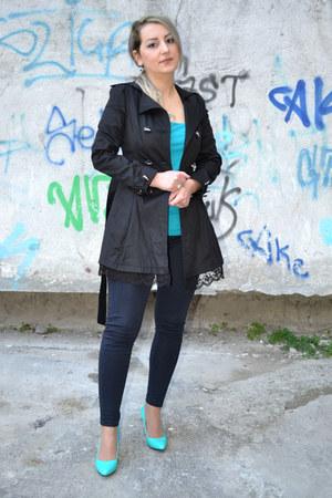 Bershka pants - OASAP coat - Bershka top - Jolly Chic heels