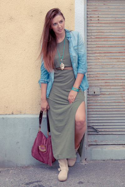 H&M dress - Mtng boots - c&a shirt - APreciouZ bracelet - accessorizes necklace