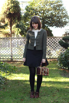 white classic H&M blouse - army green military H&M sweater