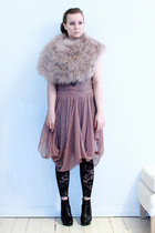 purple Rodebjer dress - purple Zara scarf - black Black Milk leggings - black So