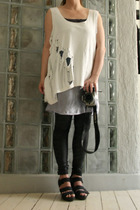 DIY t-shirt - DIY dress - GINA TRICOT leggings - vagabond shoes