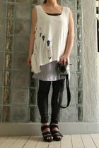 DIY t-shirt - DIY dress - GINA TRICOT leggings - vagabond shoes