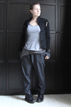 black Comme des Garcons for H&M jacket - silver American Apparel vest - gray Ame
