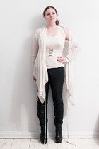 All Saints cardigan - Selected pants - Rtzou boots - American Apparel vest - nor