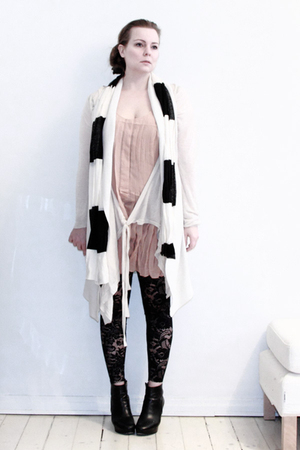 pink Sonia Rykiel for H&amp;M dress - white All Saints cardigan - white Tiger of Swe