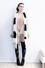 Pink-sonia-rykiel-for-h-m-dress-white-all-saints-cardigan-white-tiger-of-swe