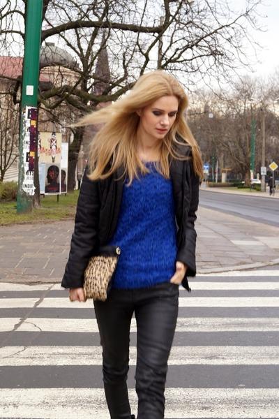 goodlookin jacket - Orsay sweater - Mohito bag - Zara pants