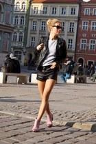 Senso boots - pull&bear jacket - H&M shorts - Mysaru sweatshirt