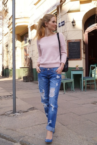 areyoufashioncom jeans tally weijl sweaters boyfriend jeans by kamilafleszar chictopia. Black Bedroom Furniture Sets. Home Design Ideas