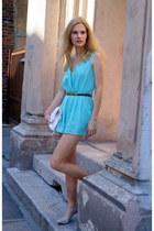 H&M bag - areyoufashioncom jumper - calvin klein heels