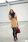 Maroon-romwe-boots-beige-sheinside-coat-blue-polish-shop-scarf