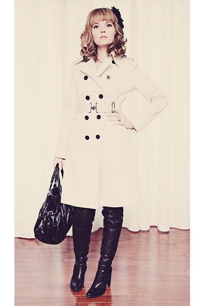 Mexx jacket - black Browns boots - black Mexx purse - black unknown accessories