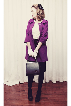 purple BB Dakota jacket - white Rickis Fashion cardigan - black Mexx skirt - whi