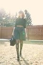 Bbdakota-skirt-black-dynamite-shirt-brown-unknown-belt-black-ebay-tights-