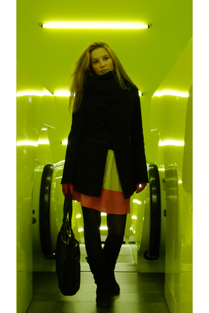 black my design coat - black Keneth Cole bag accessories - black calvin klein be