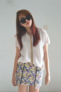Periwinkle-karencyan-store-skirt-white-top-gold-diva-accessories-accessories