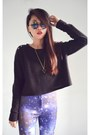 Black-studded-diy-jumper