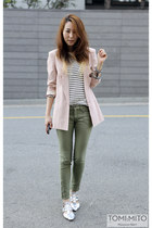light pink silk boyfriend asos blazer - white menswear sweater
