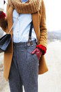 Burnt-orange-club-monaco-coat-black-chanel-bag-bronze-ugg-flats