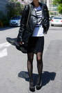 Black-miss-sixty-jacket-white-h-m-shirt-black-chanel-bag