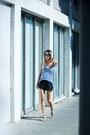 White-proenza-schouler-bag-black-leather-rag-bone-shorts