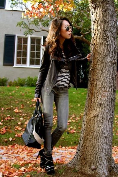 Genetic Denim jeans - Veda jacket - Ray Ban sunglasses - LnA top
