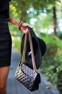Black-cropped-forever21-shirt-black-chanel-bag-black-jeffrey-campbell-heels