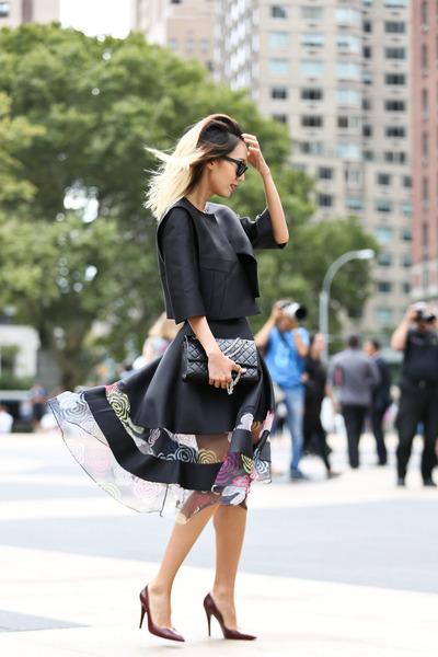 black Lie sang bong jacket - black 255 reissue Chanel bag