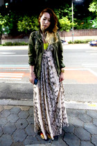 H&M dress - anorak unknown jacket - backpack kanken bag