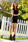 Black-draped-banded-visitinnewyork-dress-silver-jennie-cailyn-purse
