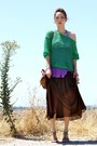 Green-crochet-unknown-sweater-camel-topshop-bag-dark-brown-maxi-skirt-vintag