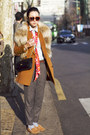 Burnt-orange-club-monaco-coat-light-blue-chambray-unknown-shirt