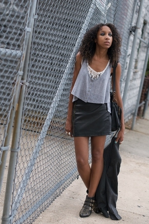 gray Balenciaga LF Urban Outfitters skirt