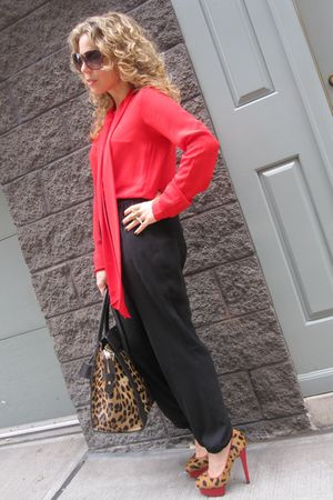 lanvin purse - Charlotte Olympia shoes - Celine top - Celine - Alexander McQueen