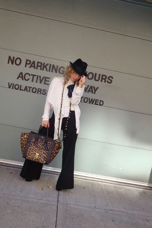 Alexander McQueen hat - Celine blouse - Givenchy pants - lanvin necklace - Celin
