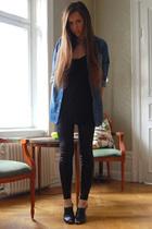 GINA TRICOT shirt - acne top - Topshop leggings - Din Sko shoes