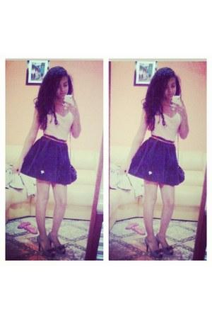 bag - belt - blouse - clogs - skirt