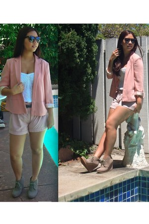 Forever 21 blazer - shoemint wedges