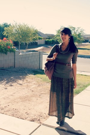 maxi skirt skirt - bag - belt - sweatshirt