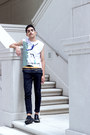 Metallic-fabrixquare-shoes-denim-topman-jeans-cotton-raf-simons-t-shirt