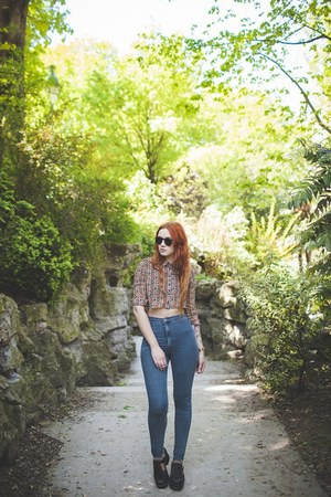 black spylovebuy shoes - navy Topshop jeans - carrot orange ark shirt