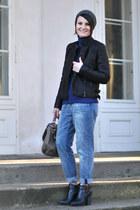 lindex jeans - black Mango jacket