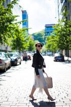 white Mango skirt - black Mango jacket