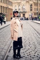 ivory jumper - camel coat