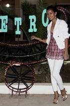 white Motivi blazer - Forever 21 - white Mango - Turkish Brand